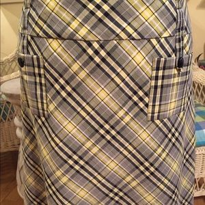 Dressbarn large plaid skirt